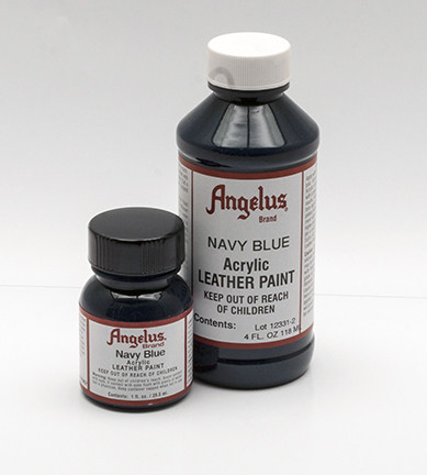 ANGELUS LEATHER PAINT - Navy Blue Shoe