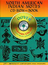 NORTH AMERICAN INDIAN MOTIFS - CD Rom & Book