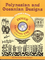 POLYNESIAN AND OCEANIAN DESIGNS - CD Rom & Book