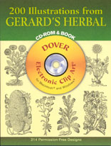 200 ILLUSTRATIONS FROM GERARD'S HERBAL - CD Rom & Book