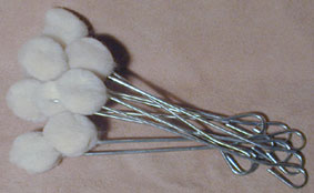 WOOL DAUBERS - pkg. of 10